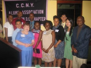 July 19, 2009. R/H Interns in DC join CCNY Alumni Association for Dinner at Charlie Chiang's Restaurant.